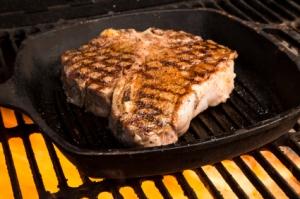 Steak on Frying Pan