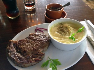Moo Steak on the Plate